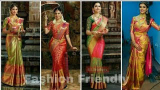 Wedding saree designs/ latest party wear saree collection 2019 /silk sarees - Fashion  Friendly