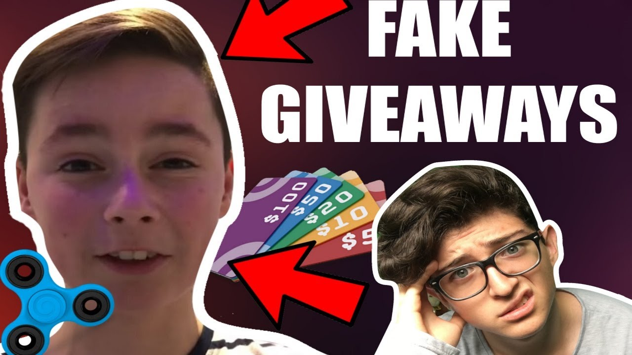 Youtubers fake giveaways
