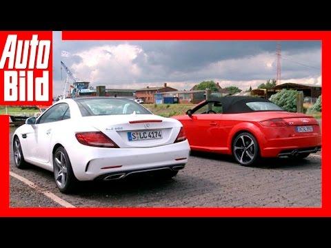 Mercedes SLC vs Audi TT (2016) / Test / Review / Probefahrt / Roadster-Duell der Extraklasse