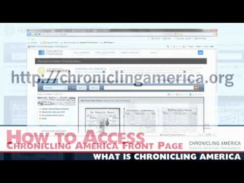 NDNP Podcast 2 - What Is Chronicling America?