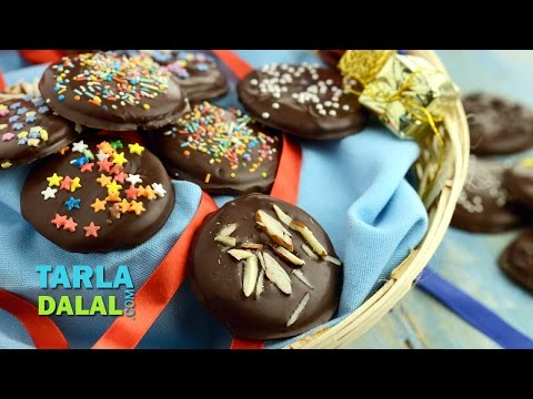 Quick Chocolaty Biscuits by Tarla Dalal