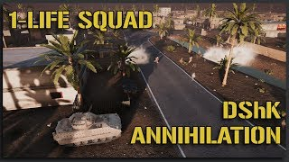 DShK Gunner ANNIHILATES Assault (1-Life Squad) - 40v40 Squad Gameplay