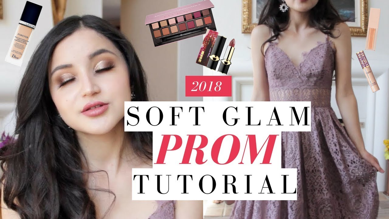 SOFT-GLAM PROM TUTORIAL + You Choose My Prom Dress! | 2018 Julia ...