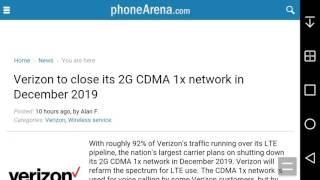 Verizon to Shut Down Its 2G CDMA 1x Network by December 2019