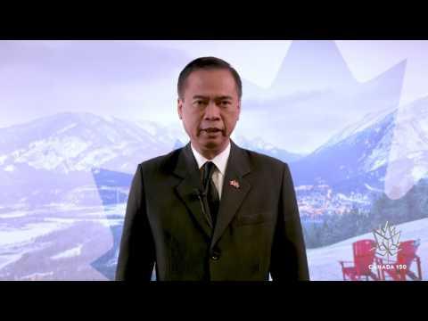 Thailand's Ambassador Wishes Canada a Happy 150th!