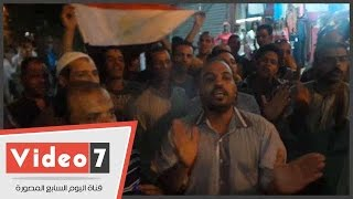 """أهالى العياط يهتفون بعد إغلاق اللجان:""""المرة دى بجد..مش هنسيبها لحد"""""""
