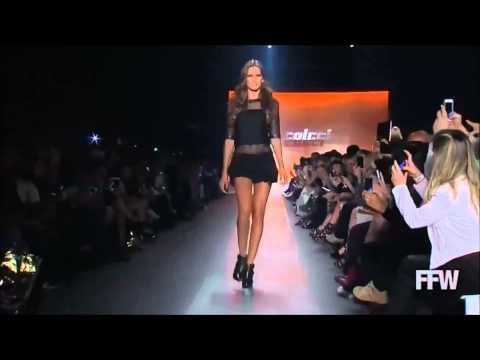 Izabel Goulart Walks the Runway at the Colcci Fashion Show 2013