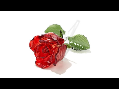 Waterford Disneys Beauty And The Beast Glass Rose Youtube