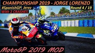 MotoGP 2019 MOD | Jorge Lorenzo | Championship | 4 #SpanishGP | PC GAMEPLAY