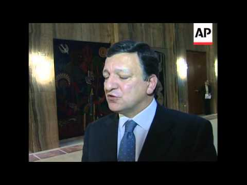 Barroso, Rehn meeting Serbian president on closer ties
