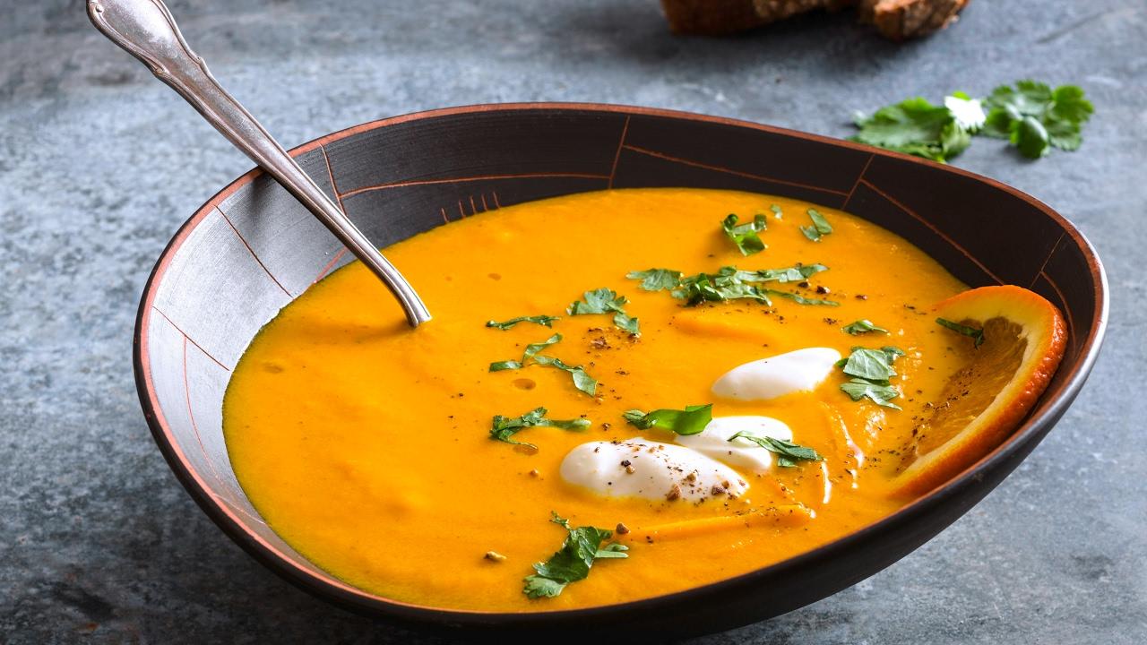 Recette: soupe de carotte à l'orange et à la coriandre