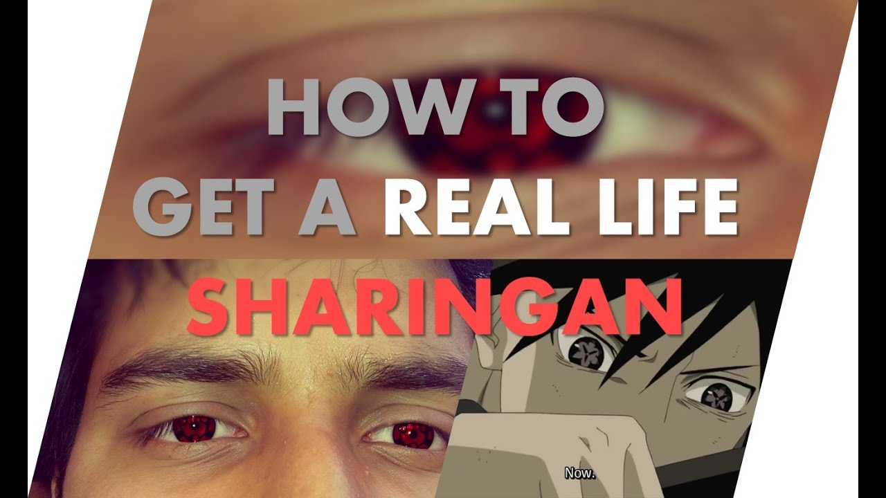 How To Get A Real Life Sharingan  YouTube