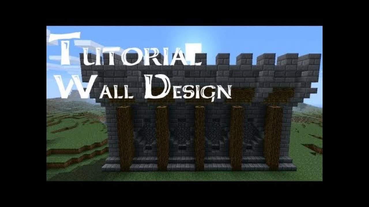 minecraft xbox 360 castle wall design - youtube