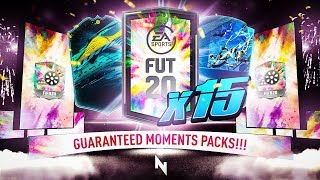 THESE PACKS ARE JUICED!!! 15 x GUARANTEED PLAYER MOMENTS PACKS!!! - FIFA 20 Ultimate Team