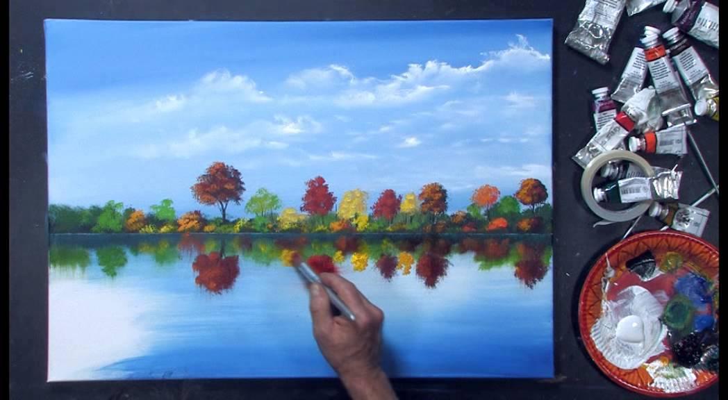 Acrylmalerei landschaft im licht mit dietmanns - Fenster abdichten acryl ...