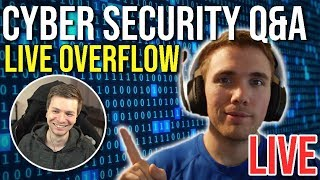 🔴 Cyber Security Q&A - With LiveOverflow    | @joshuafluke on socials