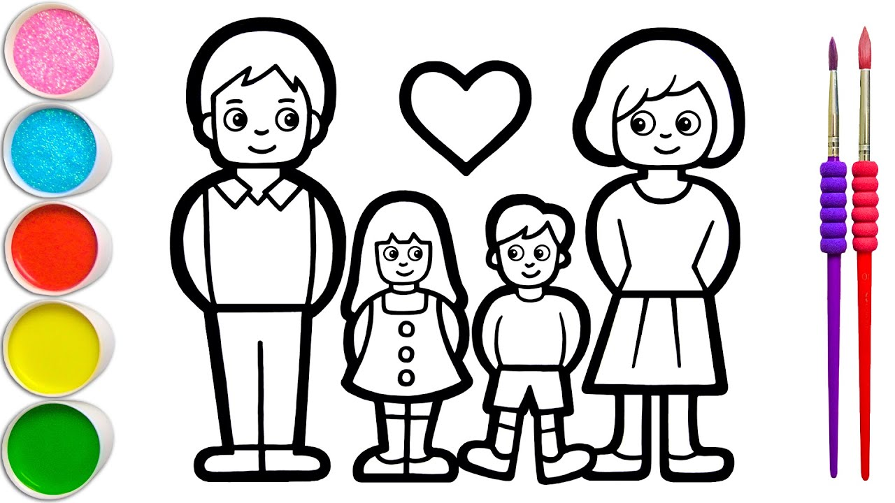 Download Menggambar, Melukis dan Mewarnai Keluarga untuk Anak & Balita   Dasar Bagaimana Menggambar Tip #143