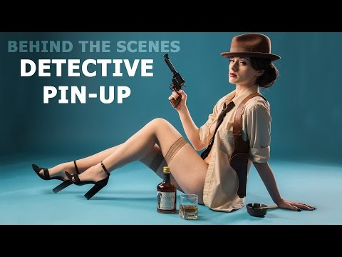 """Detective"" themed Retro Pin-Up Photo Shoot (Behind the Scenes)"