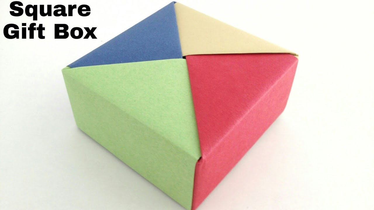 square gift box diy modular origami tutorial by paper folds