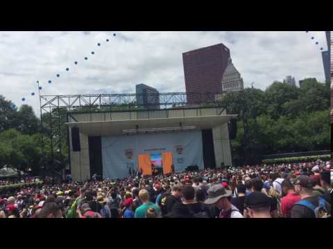 Chanting 'WE CAN'T PLAY' Pokemon Go Festival at Grant Park Chicago, IL July 22nd 2017