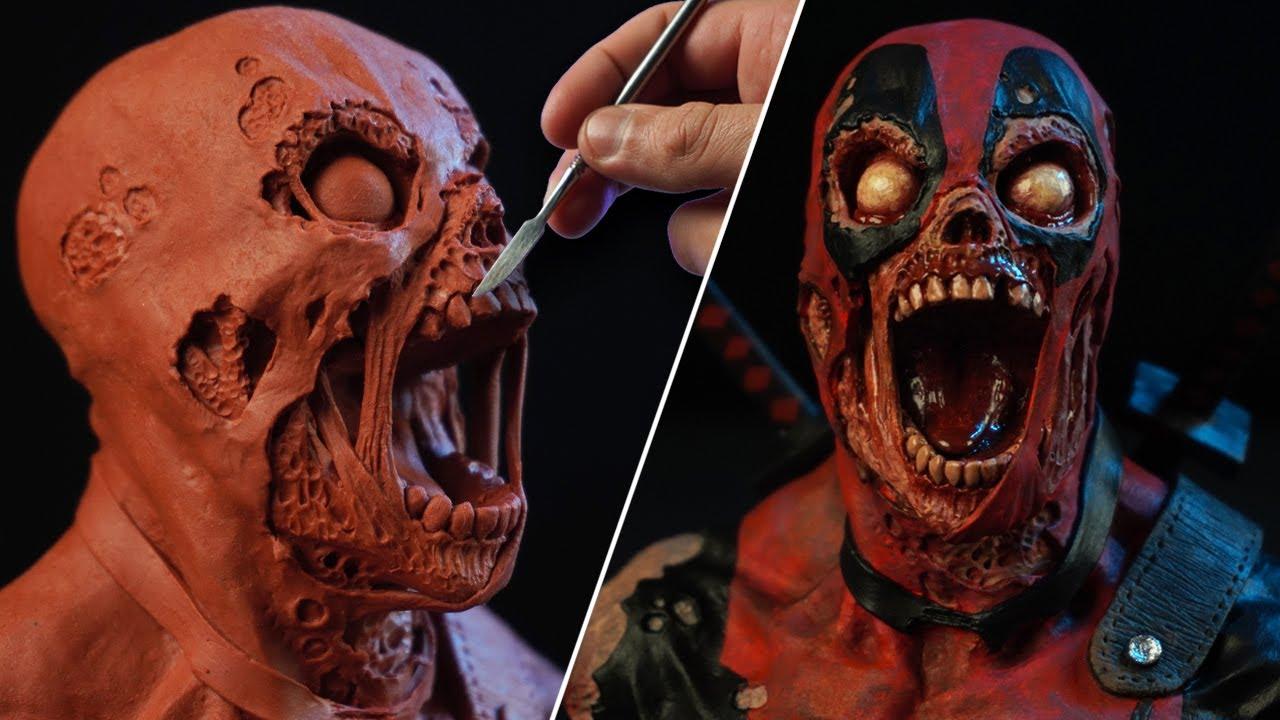 Sculpting DEADPOOL ZOMBIE   Marvel Zombies [ BUST ]