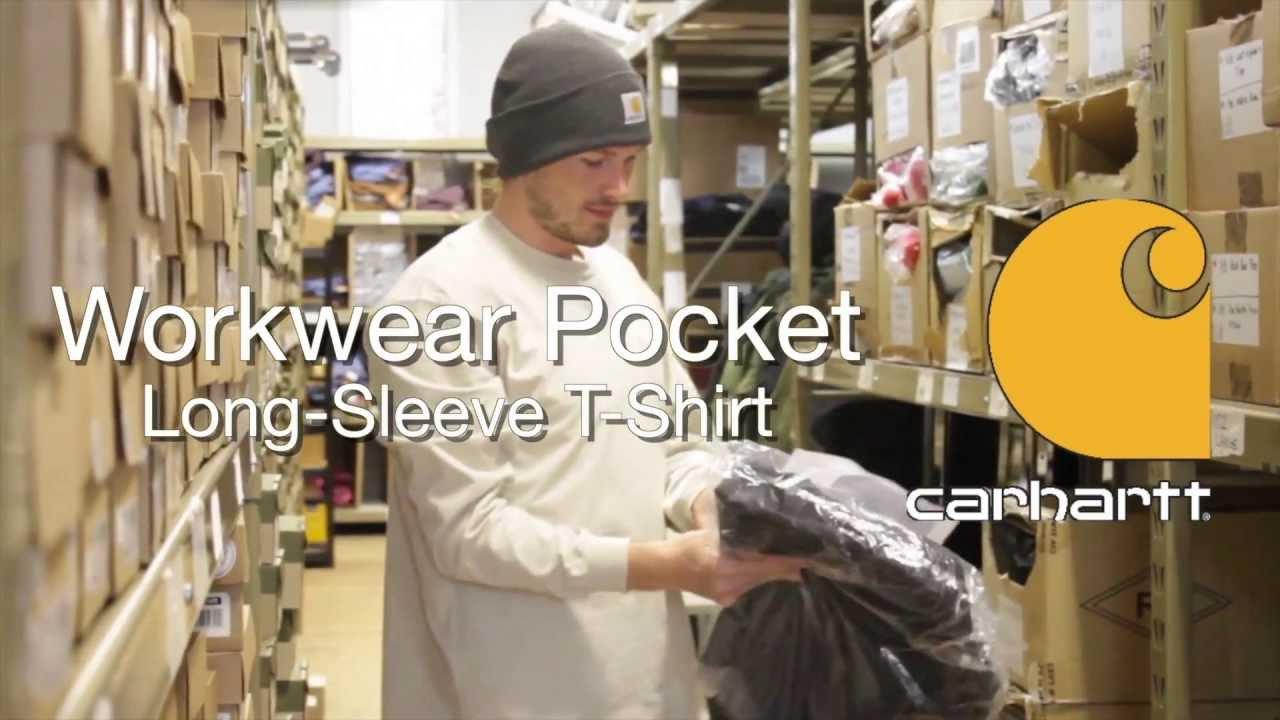 0465c35cb8 K126 Carhartt Men s Workwear Pocket Long-Sleeve T-Shirt - YouTube