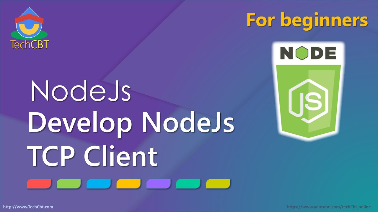 How to develop TCP Client (Network) application using NodeJs