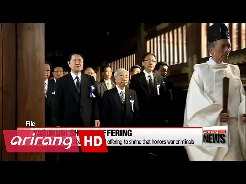 Japan's PM Shinzo Abe sends ritual offering to shrine that honors war criminals