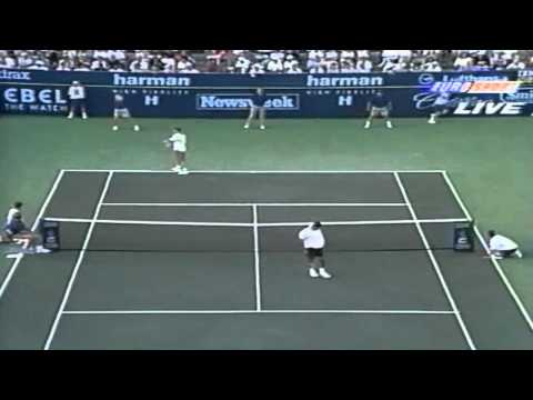 Sampras - Agassi - Indian Wells 1995 Final - Highlights