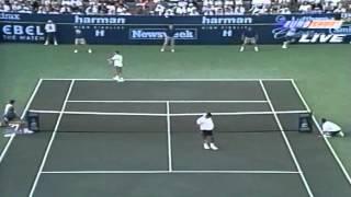 Sampras - Agassi - Indian Wells 1995 Final - Highlights