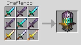 JUNTEI TODAS AS ESPADAS DO MINECRAFT