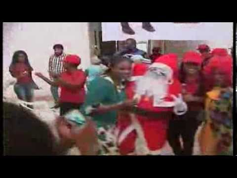 ITV/Radio Skelewu bubbling Father Christmas arrives Benin