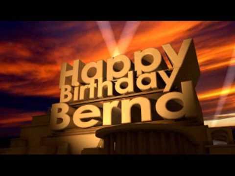 Geburtstag Bernd