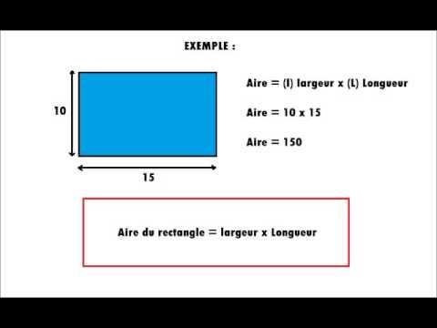 calcul de l aire d un rectangle