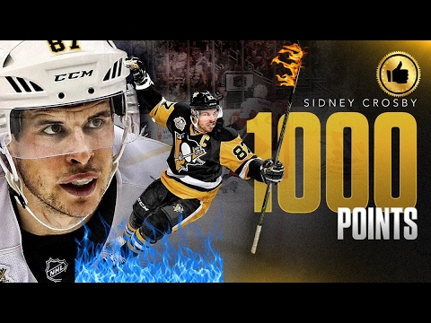 Sidney Crosby scores his 1000 point!!!!!