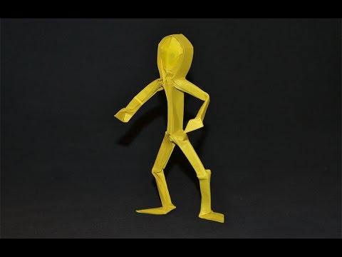Origami Human Figure Claudio Acuna J