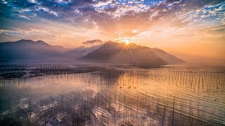 Most beautiful tidal land in China