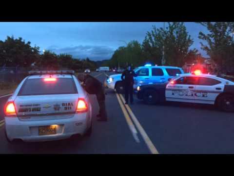 Multnomah County Sheriff's Office car hits pedestrian in Wood Village