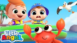 Beach Day Adventure Song | Little Angel Kids Songs & Nursery Rhymes