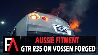 FUEL AUTOTEK Media: Nissan GTR R35 on Vossen Forged M-X1 3-Piece Custom Alloy Wheels