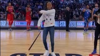 JALIAH HARMON'S ELECTRIFYING PERFORMANCE OF HER RENEGADE CHOREOGRAPHY [ 2020 NBA ALL STAR GAME ]