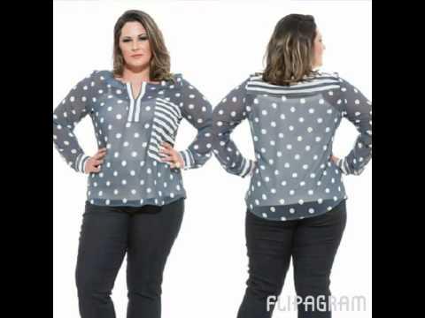 f14b19bb3f Camisa plus size Poá com listras - YouTube