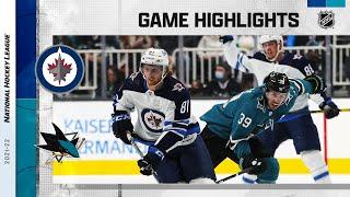 Jets @ Sharks 10/16/21 | NHL Highlights