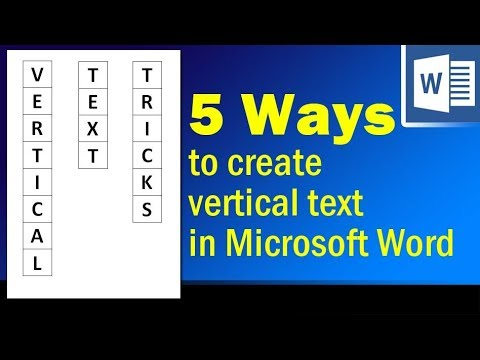 5 Easy Ways To Create Vertical Text In Microsoft Word