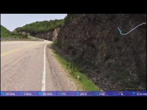 """Cabot Trail """"bête noire"""" climb on bicycle"""
