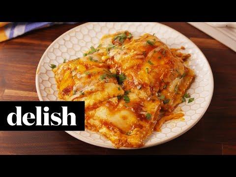 Chicken Enchilada Ravioli Bake | Delish