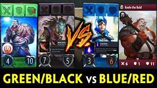 Gambar cover Green/Black vs Blue/Red deck — Artifact tournament PAX 2018