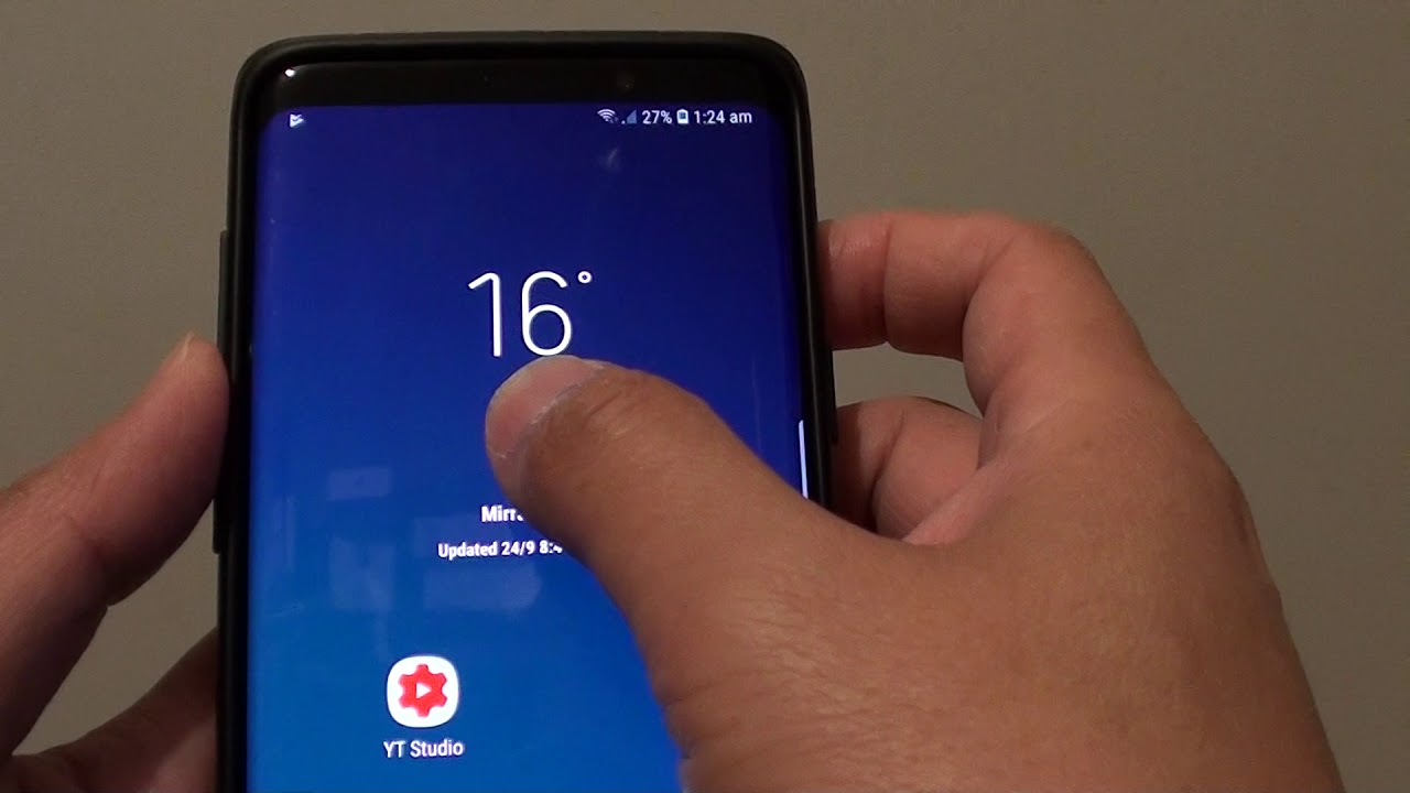 Samsung Galaxy S9 Plus: How to Remove Weather Widget From Home Screen