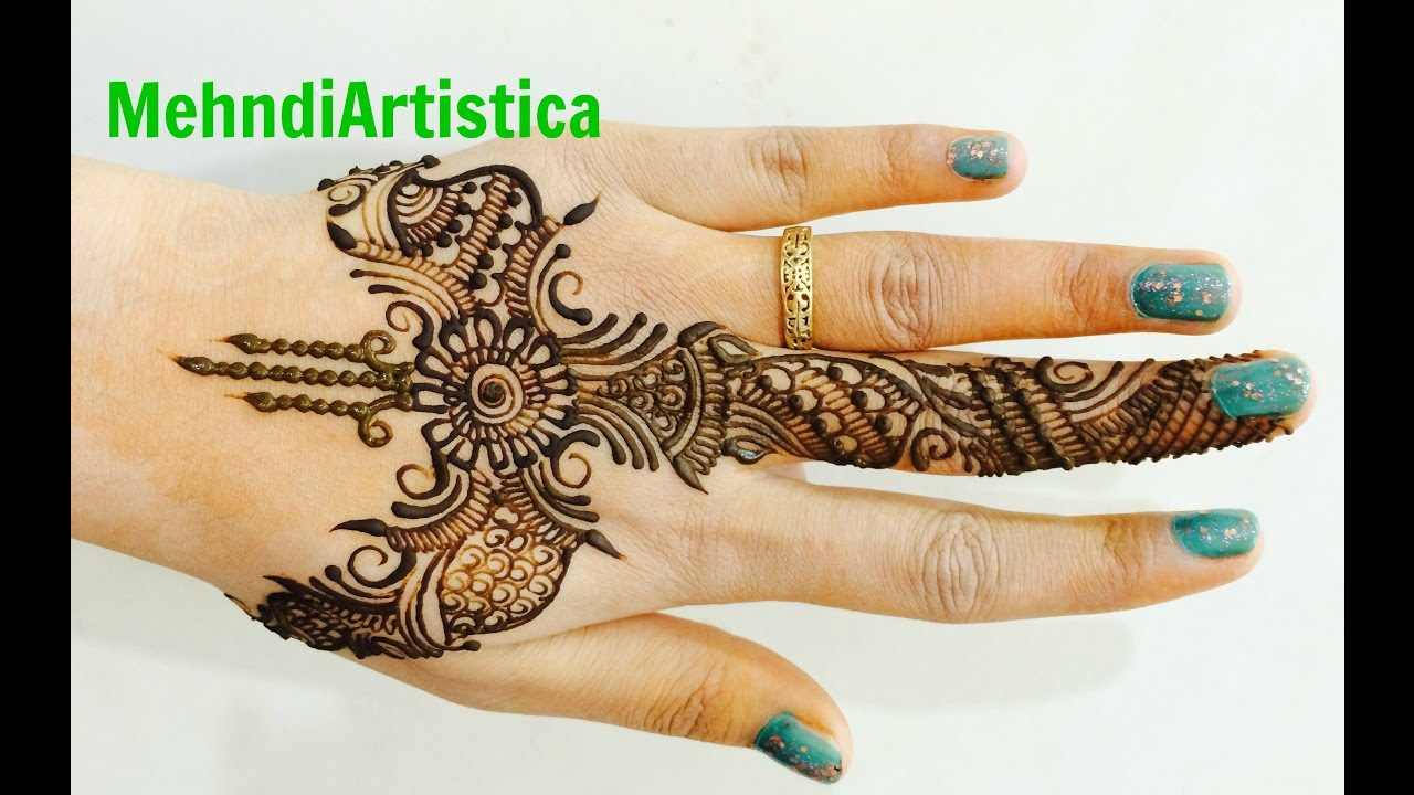 simple designer arabic mehndi designs for hands mehendi tutorial