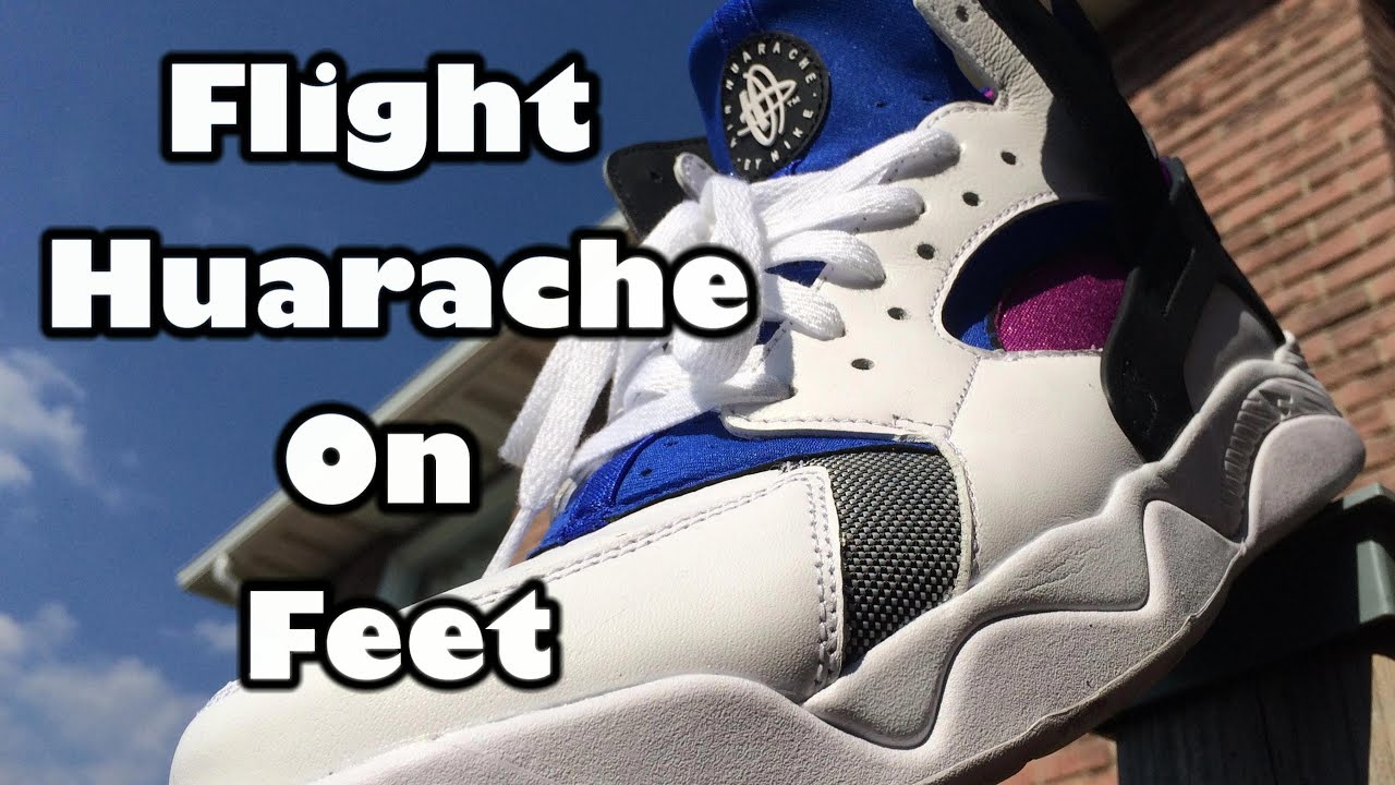 7bbabfd9053b Nike Air Flight Huarache On Feet - Finally Got Mine! - YouTube